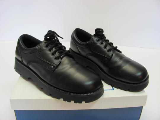 T.K.S. Size 6.00 M Very Good Condition Black Flats Image 1