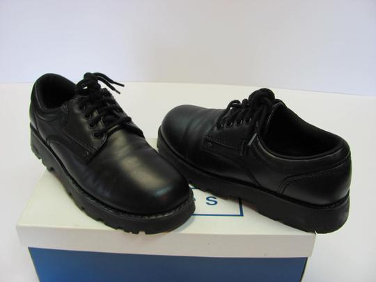 T.K.S. Size 6.00 M Very Good Condition Black Flats Image 2