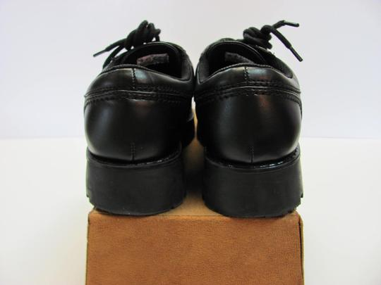 T.K.S. Size 6.00 M Very Good Condition Black Flats Image 3