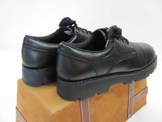 T.K.S. Size 6.00 M Very Good Condition Black Flats Image 4