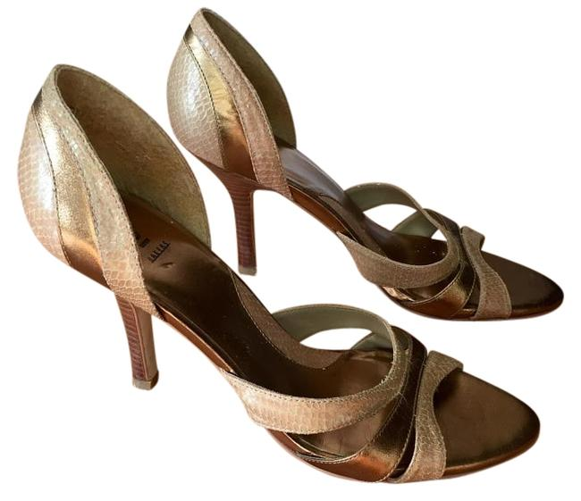 Item - Neutral Tan and Brown Leather Heels Pumps Size US 7.5 Regular (M, B)