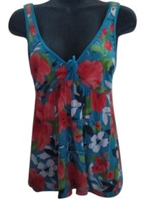 Hollister Floral Summer Tropical Knit Beach Top Multicolored