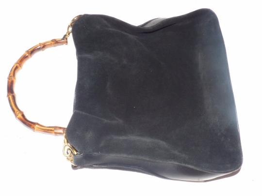 Gucci Gold Hardware Sarah Flip-top Style Removable Strap Suede/Leather Hobo Bag Image 3