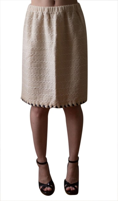 Vintage 1970s 70s 1980s 80s Taupe Beige Neutral Pencil Knree Length Hipster Winter Fall Spring Summer Rockabilly Retro Attire Skirt beige/taupe/neutral