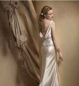 Alvina Valenta 9808 Silk Charmuse Low Back Sexy Wedding Dress