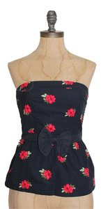 Abercrombie & Fitch Peplum Strapless Top FLORAL
