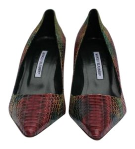 Manolo Blahnik Multi Snake Pumps