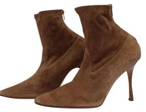 Manolo Blahnik Taupe Boots