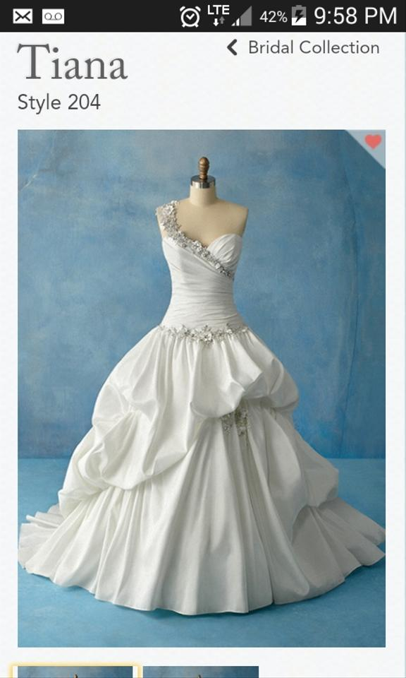 Alfred Angelo White Disney Princess Tiana Style 204 Formal Wedding ...