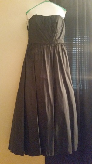 Mori Lee Black 261 Formal Bridesmaid/Mob Dress Size 14 (L) Image 3