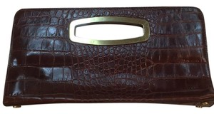 Donald J. Pliner Brown Clutch