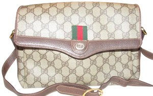 Gucci Accessory Col Multiple Compartment Cc/Leather Red/Green Cross Body Bag