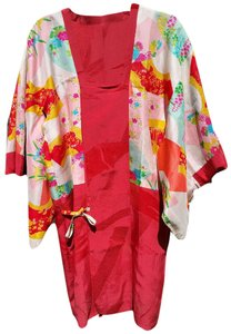 HAYASHI short dress Red Japanese Silk Kimono Vintage on Tradesy