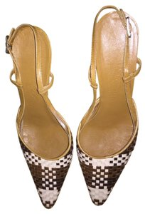 Salvatore Ferragamo Brown Beige Mules