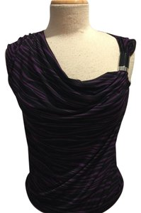 Michael Kors Top Purple/Black