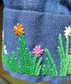 Other 70's Hippie Shirt Embroidered Button Down Shirt Blue Jean Image 6