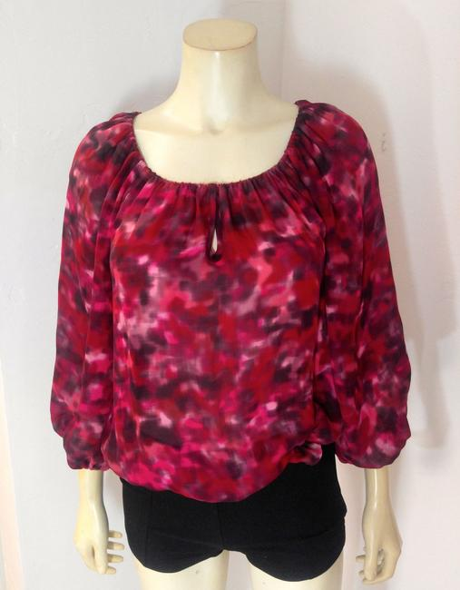Alice + Olivia Size Small Long Sleeve Top red, Image 2