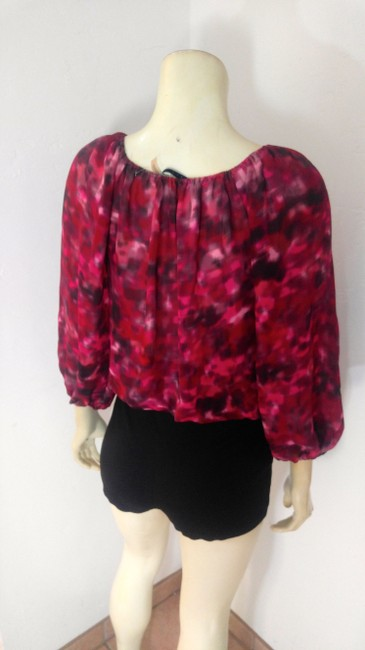 Alice + Olivia Size Small Long Sleeve Top red, Image 5