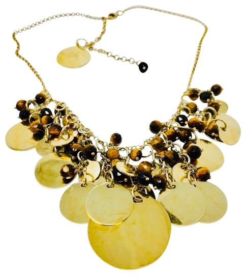 Preload https://img-static.tradesy.com/item/17698270/sterling-silver-gold-overlay-and-brown-tiger-s-eye-draped-necklace-0-5-540-540.jpg