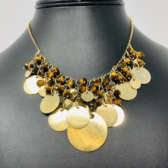 Sterling Silver Vermeil Bib Necklace Sterling silver, Tiger's Eye draped necklace Image 2