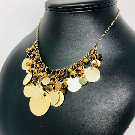 Sterling Silver Vermeil Bib Necklace Sterling silver, Tiger's Eye draped necklace Image 3