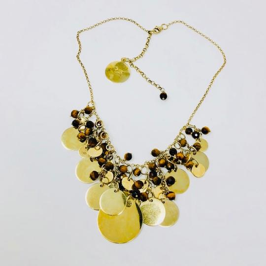Sterling Silver Vermeil Bib Necklace Sterling silver, Tiger's Eye draped necklace Image 4