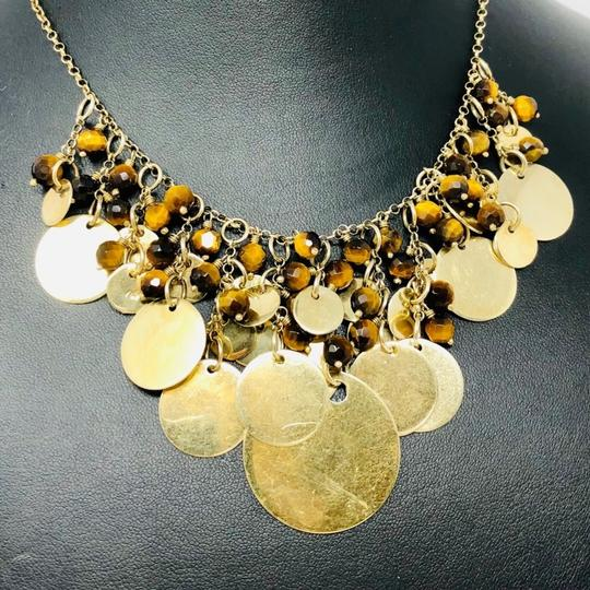 Sterling Silver Vermeil Bib Necklace Sterling silver, Tiger's Eye draped necklace Image 5
