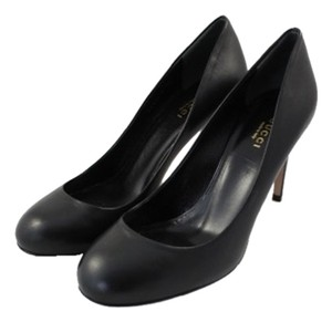 Gucci Leather Penny Lane Black Pumps