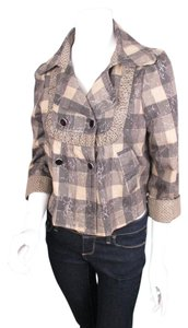 Other Neslay Paris Plaid Art To Wear Artsy Crop Pea Jacket Pea Coat