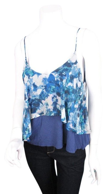 Preload https://img-static.tradesy.com/item/17699068/sparkle-fade-urban-outfitters-blue-floral-tiered-tank-top-blouse-0-1-650-650.jpg
