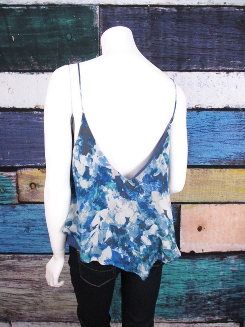 Sparkle & Fade Urban Outfitters Floral Tiered Blouse Top Blue Image 1