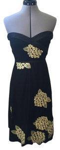 Odille Strapless Embroidered Sweetheart Retro Dress
