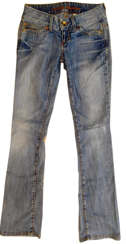 Guess Denim Light Wash Daredevil Low Rise. R70 Boot Cut Jeans Size 24 (0, XS)