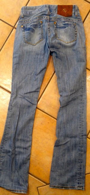 Guess P2135 Size 24 Boot Cut Jeans-Light Wash Image 3