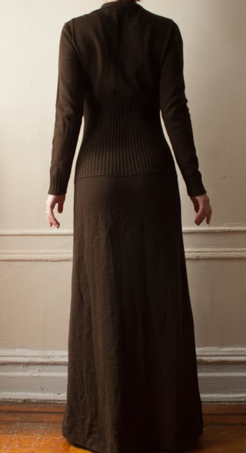 chocolate brown Maxi Dress by Howard Lawrence for Maisonette Vintage 1970 1960s 70s 60s Sweater Shirt Knit Knitted Maxi Long Rockabilly Hipster Retro Winter Fall Boho Bohemian