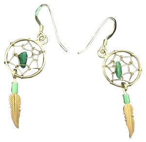 NEW small turqoise stone sterling silver dangling earring