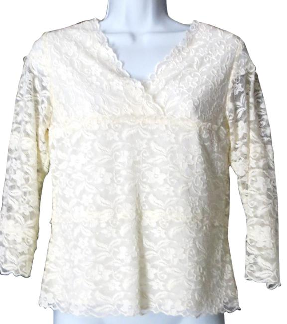 Preload https://img-static.tradesy.com/item/17699587/coldwater-creek-cream-floral-lace-34-sleeve-short-waist-night-out-top-size-2-xs-0-1-650-650.jpg