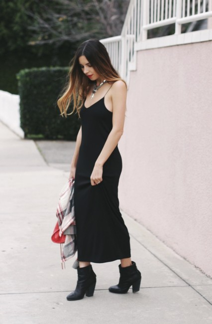 black Maxi Dress by Zara Banana Republic 90s Grunge Midi Strappy For Love And Lemons Stone Cold Fox Reformation Gypsy Slip Lined Mango H&m 21
