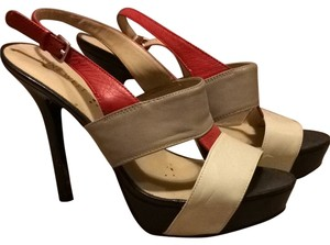 Nine West Red, Black, White, Gray Sandals