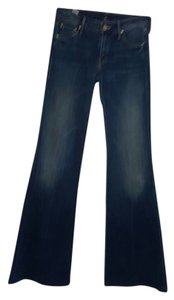 Mother Long Flare Leg Jeans-Dark Rinse