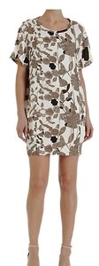 Diane von Furstenberg short dress Multi, Black, Brown, White Floral Date Night Dvf Brenda Garden Sepia on Tradesy