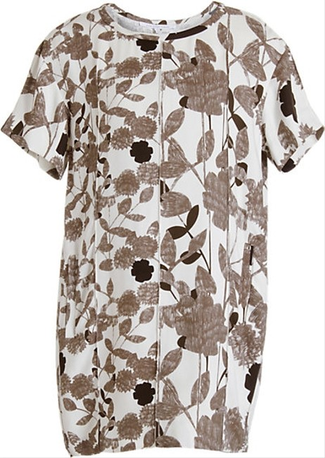 Diane von Furstenberg short dress Multi, Black, Brown, White Floral Date Night Dvf Brenda Garden Sepia on Tradesy Image 1