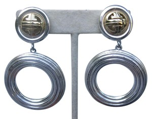 Givenchy auth stamped givenchy clip on dangle earrings designer