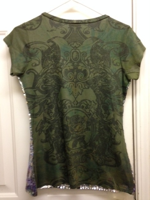 Carrie Allen Olive Green K4028 Blouse Size 8 (M) Carrie Allen Olive Green K4028 Blouse Size 8 (M) Image 2