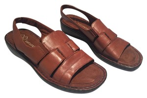 Naturalizer Slingback Woven Brown Leather Sandals