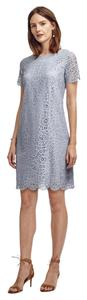 Ann Taylor Lace Shift Scalloped Dress