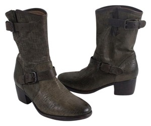 UGG Australia Weave Leather Gray Green Boots