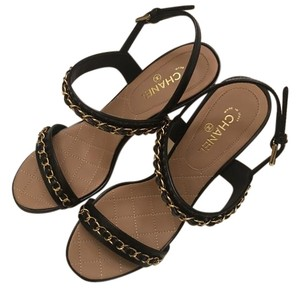 Chanel Heel BLACK Sandals