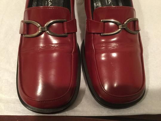 Via Spiga Italy Silver Stirrup Burgundy leather Pumps