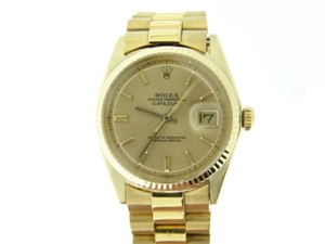 Rolex Rolex Solid 18k Yellow Gold Datejust Watch Wgold Plated President Style Band